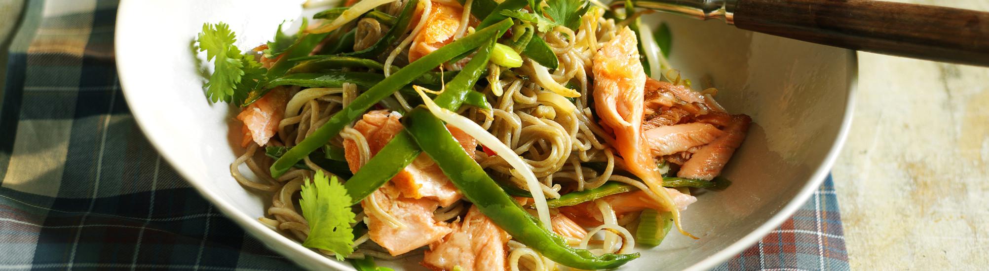 Salmon Stir-Fry with Soba recipe