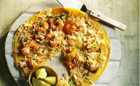 Asian Prawn and Rice Omelette recipe