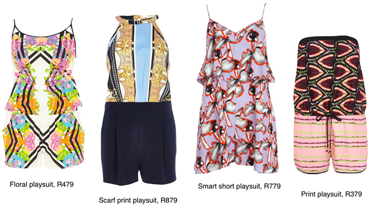 Summer Printed Jumpsuits, from R379 to R879, size 6 to 16, River Island