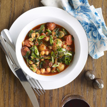Chorizo, Chickpea and Potato Stew with Kale Recipe
