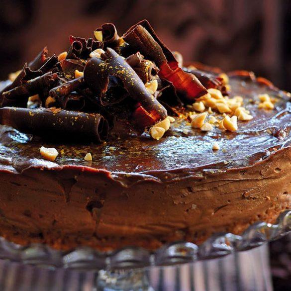 Chocolate and salted peanut cheesecake recipe