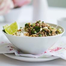 Thai pork mince with jasmine rice recipe