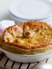 Artichoke and cheese veggie pie recipe