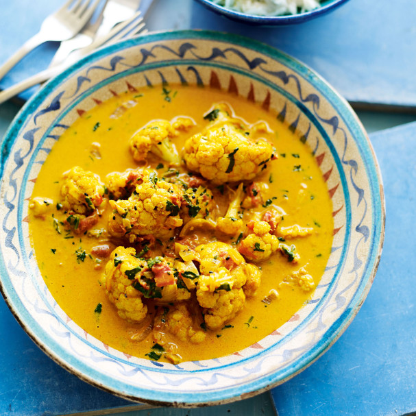 Cauliflower Curry with Keralan Lemon Rice recipe