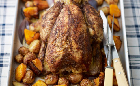Middle Eastern roast chicken with sumac, lemon and rosemary recipe