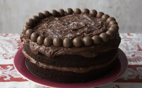 Chocolate Malteser cake with malted chocolate frosting recipe