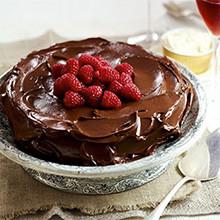 Dark chocolate and almond torte recipe