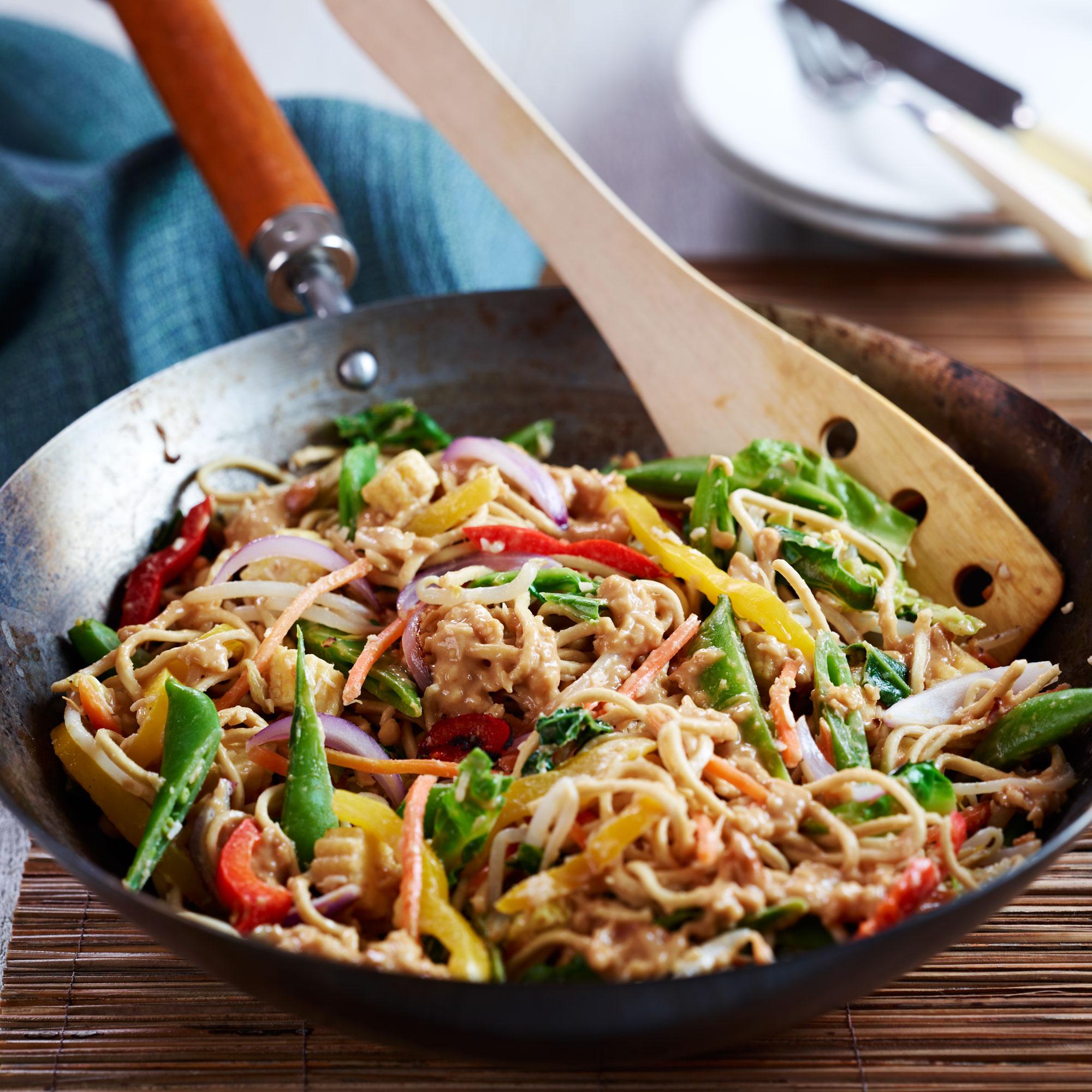 Satay Veggie Stir-Fry Recipe