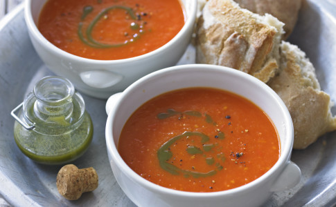 Tomato Soup With Basil Oil Recipe