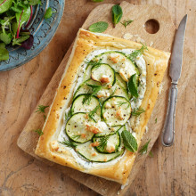 Courgette And Marrow Tart With Feta Recipe