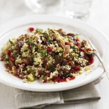 Fruit And Nut bulgur Wheat Salad Recipe