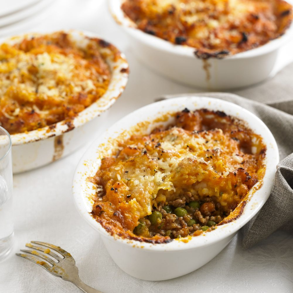 Mini shepherd's pies with sweet potato mash recipe