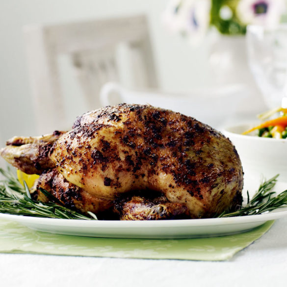 Roast Chicken With Rosemary And Anchovy Butter Recipe
