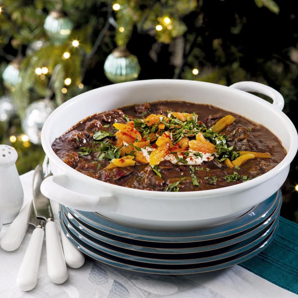 Spiced beef casserole