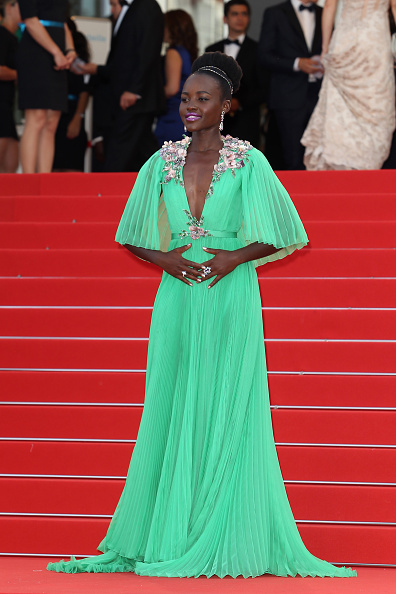 "CANNES, FRANCE - MAY 13:  Lupita Nyong'o attends the opening ceremony and ""La Tete Haute"" (""Standing Tall"") premiere during the 68th annual Cannes Film Festival on May 13, 2015 in Cannes, France.  (Photo by Antonio de Moraes Barros Filho/FilmMagic,)"