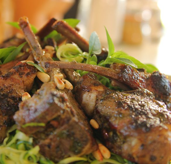 Siba Mtongana's Pesto Stuffed Lamb Chops recipe