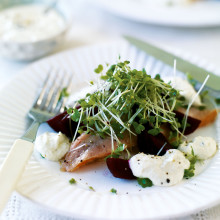 Smoked Trout With Horseradish, Beetroot And Watercress Recipe