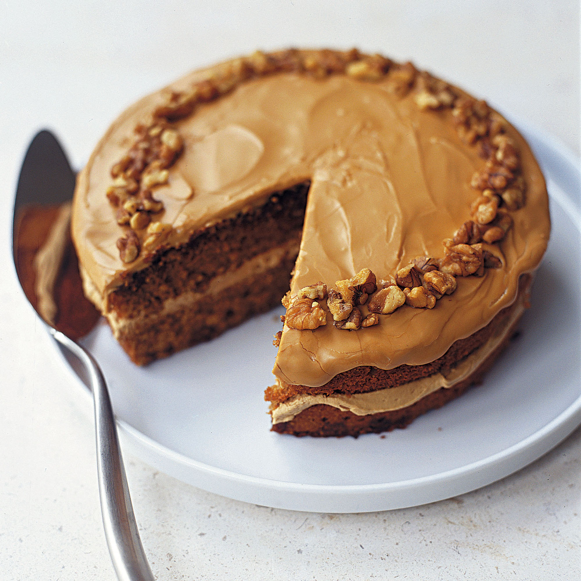 coffee and walnut cake recipe woman home sa