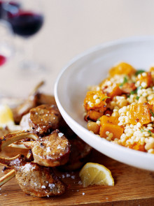 Giant couscous with roasted squash and chickpeas recipe