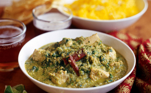 Chicken and coriander curry recipe
