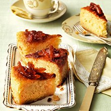 Sticky orange and almond cake with marmalade glaze recipe