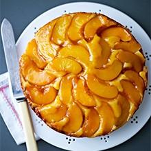 Peach and Marzipan Cake