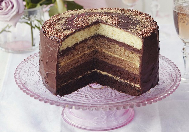 Chocolate Ombre Cake With Salted Caramel