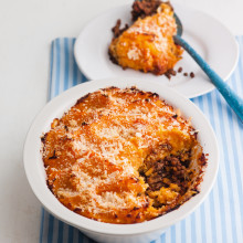 'Half and Half' Cottage Pie With Root Veg Mash Recipe