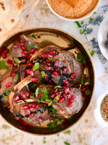 Lamb Cutlets with Pomegranate and Mint