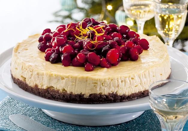 Orange And Cranberry Cheesecake
