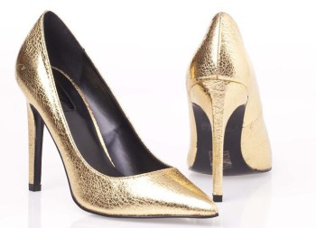 Topshop Gold shoe, R