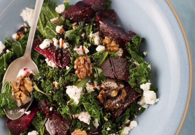 Beetroot, Kale and Feat Salad