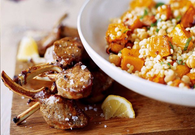 Giant Couscous With Roasted Squash and Chickpeas