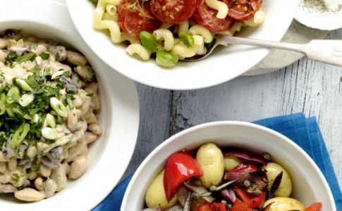 Oven-dried tomatoes and basil pasta salad recipe