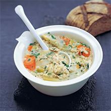 Chicken and barley broth recipe