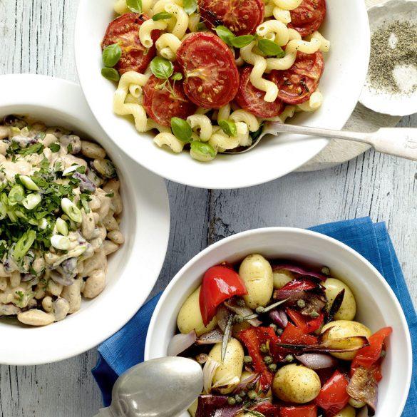 Oven-dried tomato and basil pasta salad recipe
