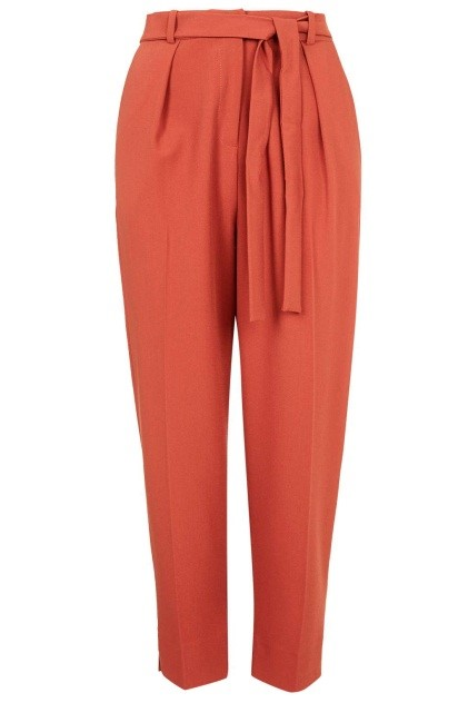 Belted straight leg trousers, R815, 8 to 16, Topshop