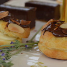 Forum Homini's Chocolate And Almond Profiteroles