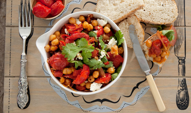 Sweet-Piquante-Pepper-And-Chickpea-Casserole
