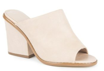 leather block heel
