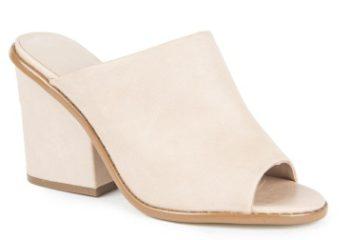 leather block heel