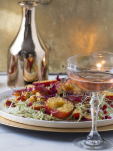 Crunchy Peach and Coleslaw Salad with Rooibos Dressing recipe