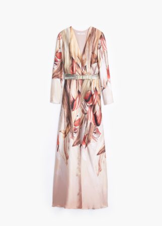 Printed gown Mango