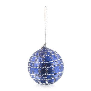 Blue Sparkle Christmas Bauble