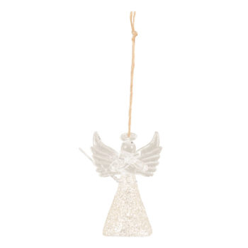 Glass Angel Christmas Bauble