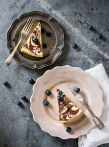 Zola Nene's Blueberry-ripple Baked Cheesecake