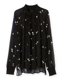Embroidered silk blouse, R1 399, Country Road