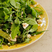 Siba's Recipe for Sautéed Greens With Rocket And Feta