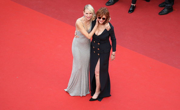 "CANNES, FRANCE - MAY 12: Actresses Naomi Watts (L) and Susan Sarandon attend the ""Money Monster"" premiere during the 69th annual Cannes Film Festival at the Palais des Festivals on May 12, 2016 in Cannes, France. (Photo by Andreas Rentz/Getty Images)"