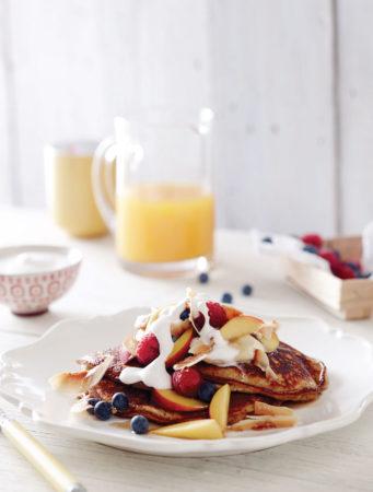 Hazelnut-and-banana-pancakes